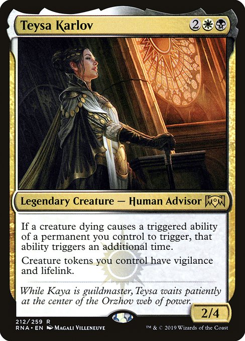 Edhrec Teysa Orzhov Scion Commander Magic The Gathering Magic The Gathering Cards The Gathering Down with the sickness rasputin: edhrec teysa orzhov scion commander