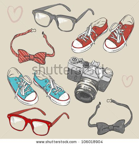 Hipster set by Peratek, via Shutterstock