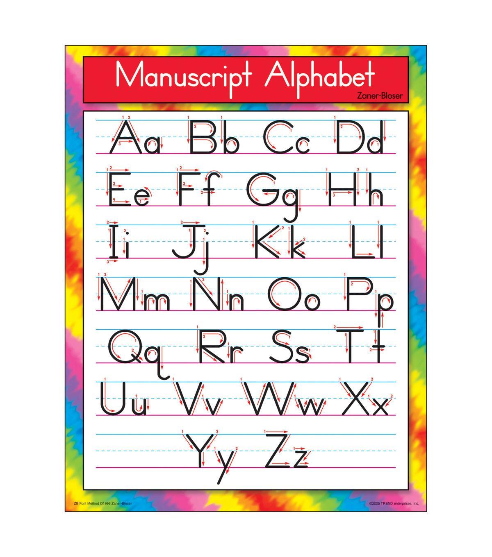 M Cript Alphabet Zaner