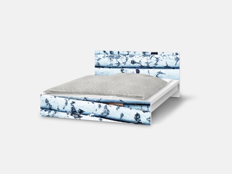 Designfolie Mit Birken Optik Fur Dein Ikea Malm Bett