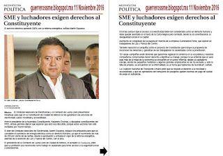 Noticias Guerrer@s SME: SME y luchadores exigen derechos al Constituyente