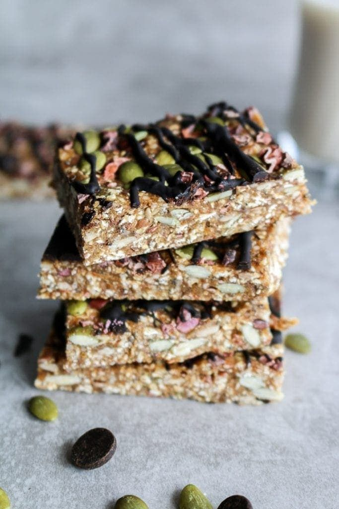 No-Bake Chewy Granola Bars (Nut-Free) | Recipe | Chewy ...