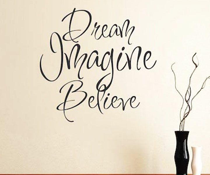Delightful Dream Imagine Believe Vinyl Wall Art Decals Stickers Quotes And Sayings  Chinese Wallstickers Decoration For Living