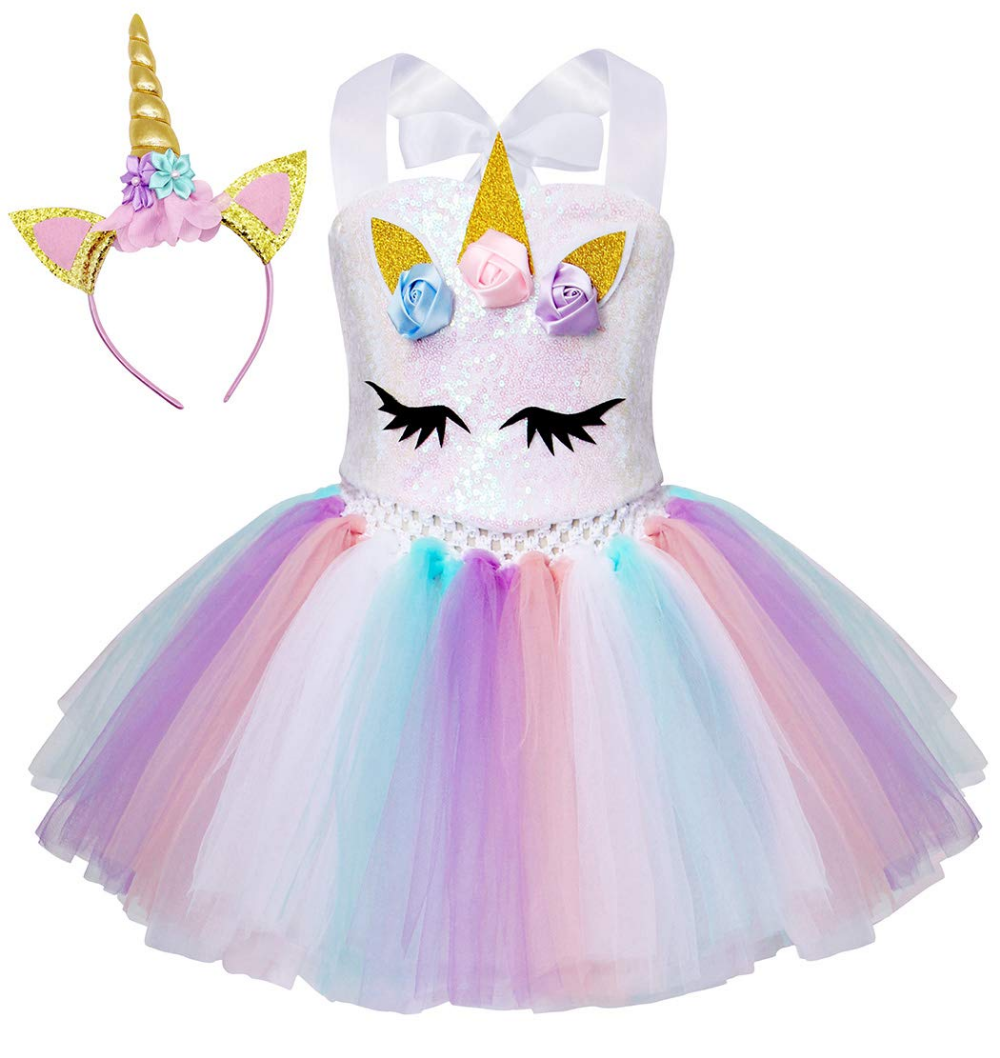 Vestido De Princesa Uniconrio Tutu Costumes Kids Unicorn Dress Belle Costume