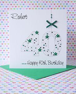 Personalised Handmade Male Birthday Card 18th21st30th40th50th60th70th