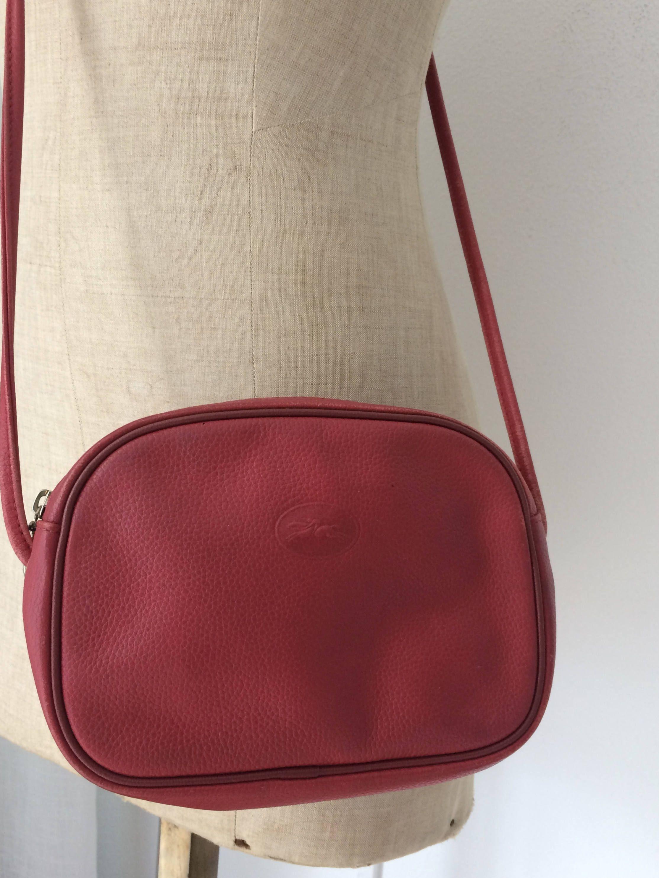 0352b73c8726 Vintage beautiful Longchamp red shoulderbag crossbody bag by  MORETHANVINTAGENL on Etsy