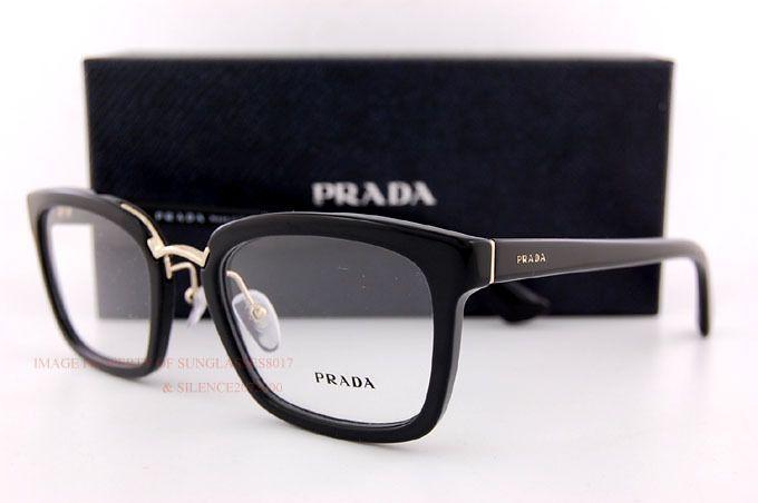 b4370644b30 ... best brand new prada eyeglass frames pr 09sv 1ab 1o1 black for women  size 53 health
