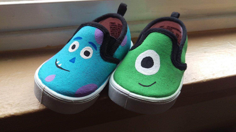 Envío gratuito Monsters inc Mike y Sully zapatos pintados a