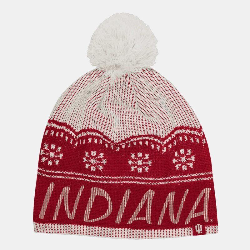 ee0131a0ccf  Fanatics.com -  adidas Indiana Hoosiers adidas Women s Beanie with Pom -  Crimson