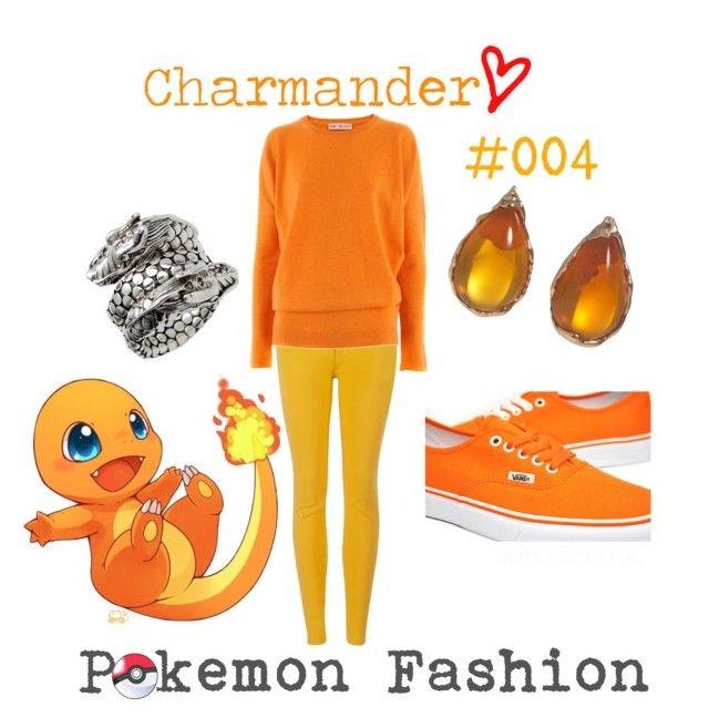 "*-""Pokemon Fashion""; Charmander. #004.♨ by domonator3155 on Polyvore featuring Heartbreaker, Ted Baker, Lucifer Vir Honestus, John Hardy, Vans, charmander, collection and pokemon"