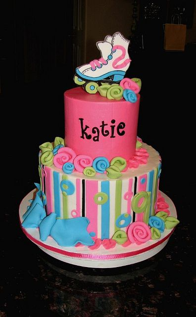 Incredible Katies Roller Skate Cake With Images Roller Skate Cake Personalised Birthday Cards Petedlily Jamesorg