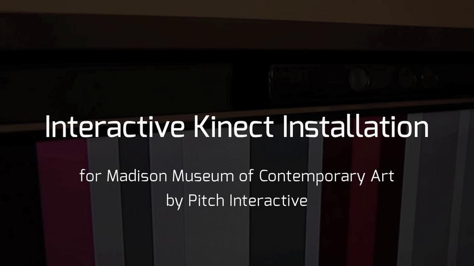 Color Cubes and Lines  Kinect Interactive Art Installation for the MMoCA
