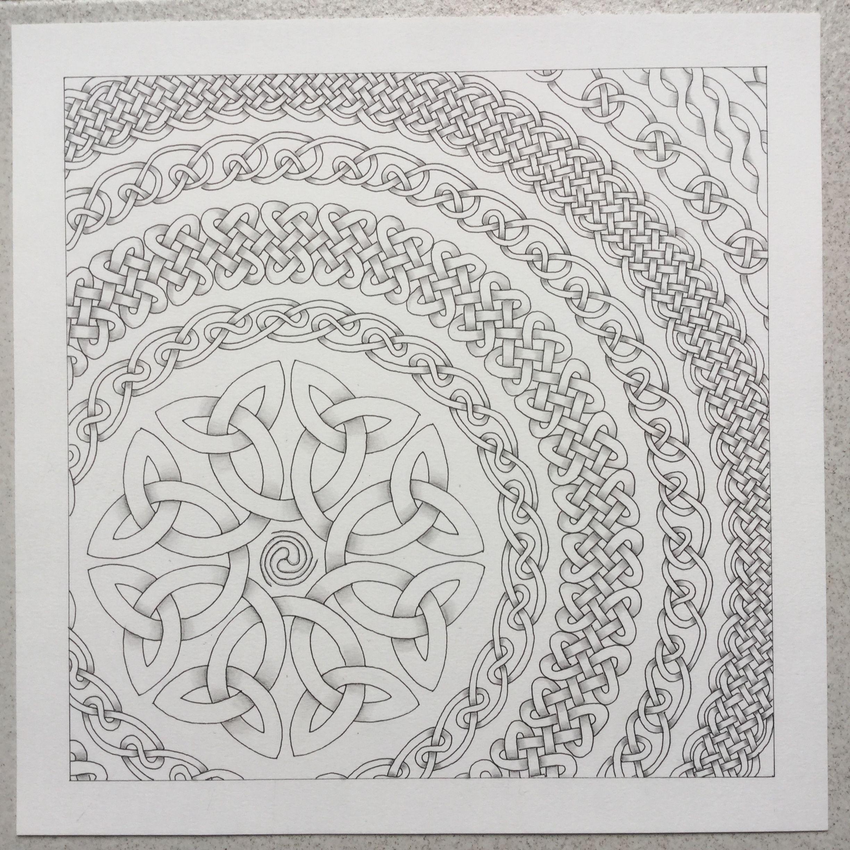 Celtic; border; mandala   ~illustrations~   Pinterest   Mandalas ...