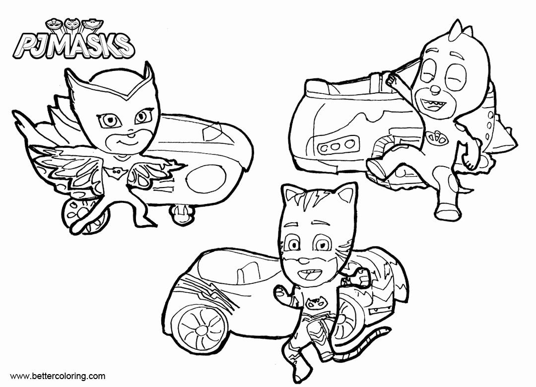 32 Pj Mask Coloring Page In