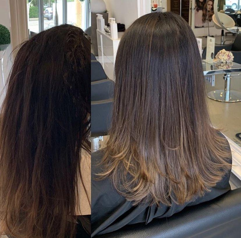 Leyla Hair And Beauty Ihr Friseursalon Mitten Im Bielefelder Westen Haarschonheit Balayage Brunett Balayage