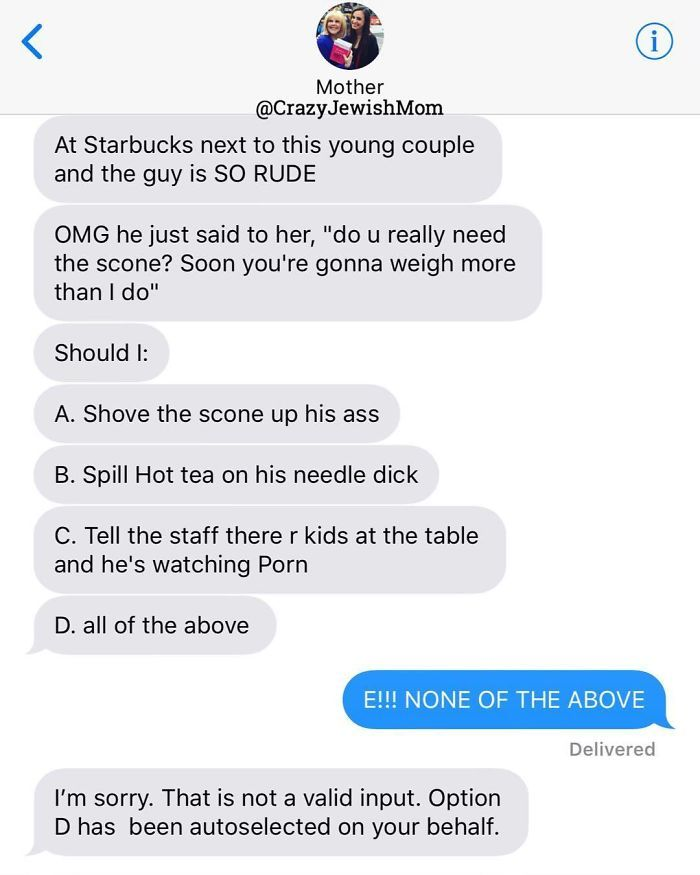 Daughter Posts Brutally Honest Texts That She Receives From Her Crazy Jewish Mother, And It's Hilarious