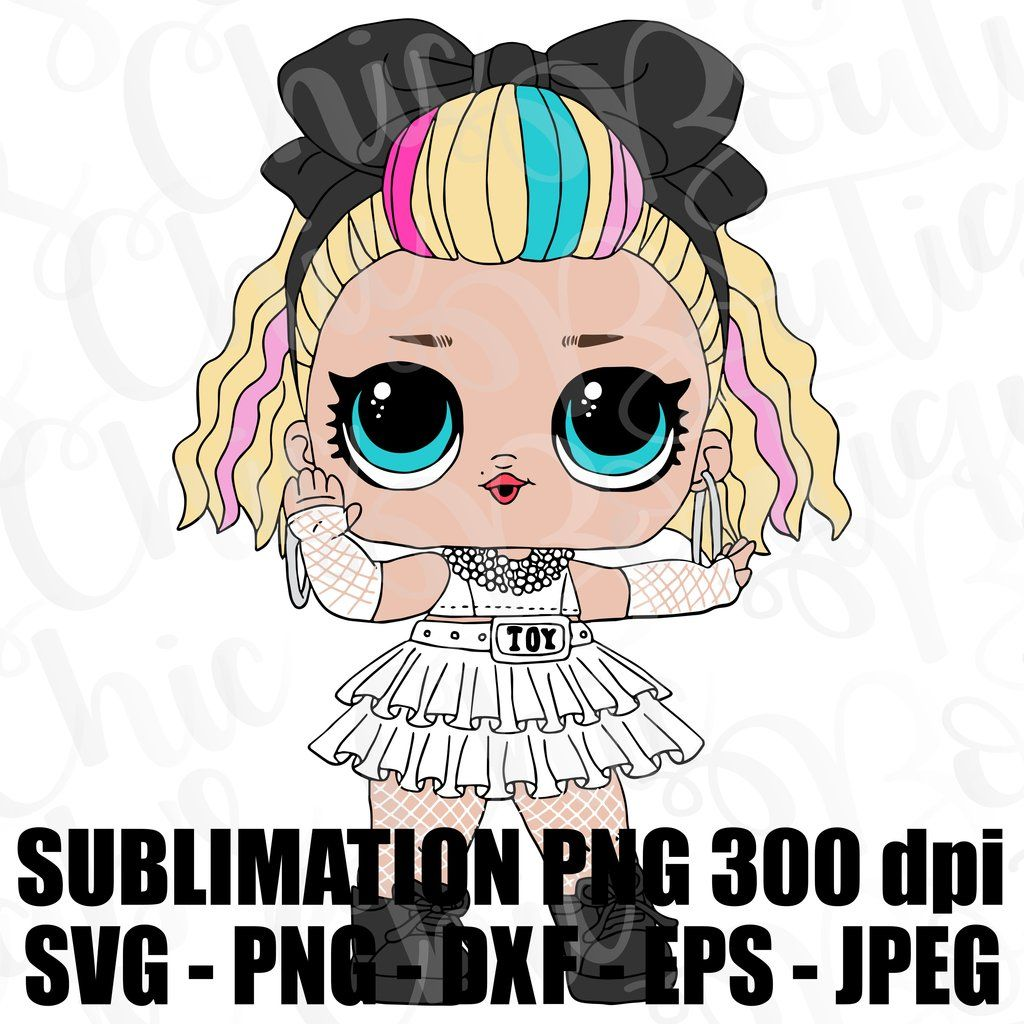 80 S Baby Lol Surprise Doll Svg Jpeg Hi Def L O L Dxf Eps 300 Dpi