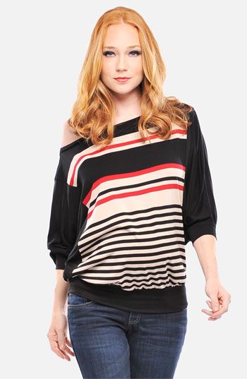 fun pop of color, and stripes ... wear with skinny jeans and heels!