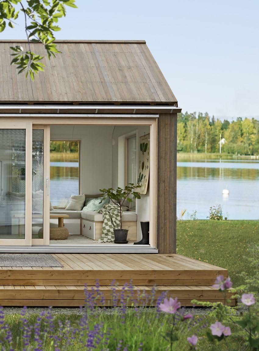 Attefallshus med faltak från Sommarnöjen. fritidshus