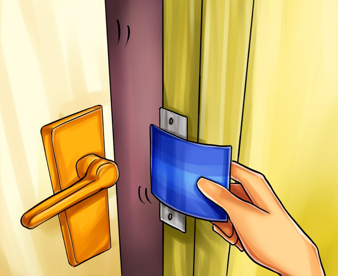 How To Open A Door With A Credit Card Credit Card Credit Card Hacks Survival Prepping
