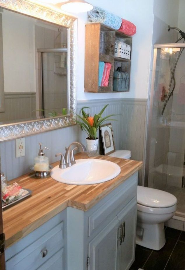 How To Makeover 1965 Bathroom Vanity Into Modern Shaker Style Diy Rustic Bathroom Vanities Bathroom Vanity Primitive Bathrooms Bathroom diy cosmetic makeover advice
