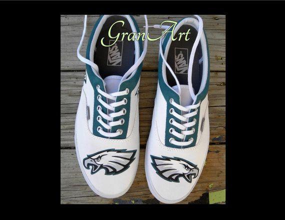 Philadelphia Eagles Custom Shoes, Vans