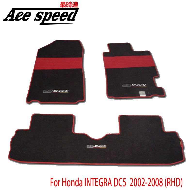 Ace speed-For Mugen Floor mats Car Carpet Fit For Honda INTEGRA DC5/DC2 Accord CL7 (RHD)