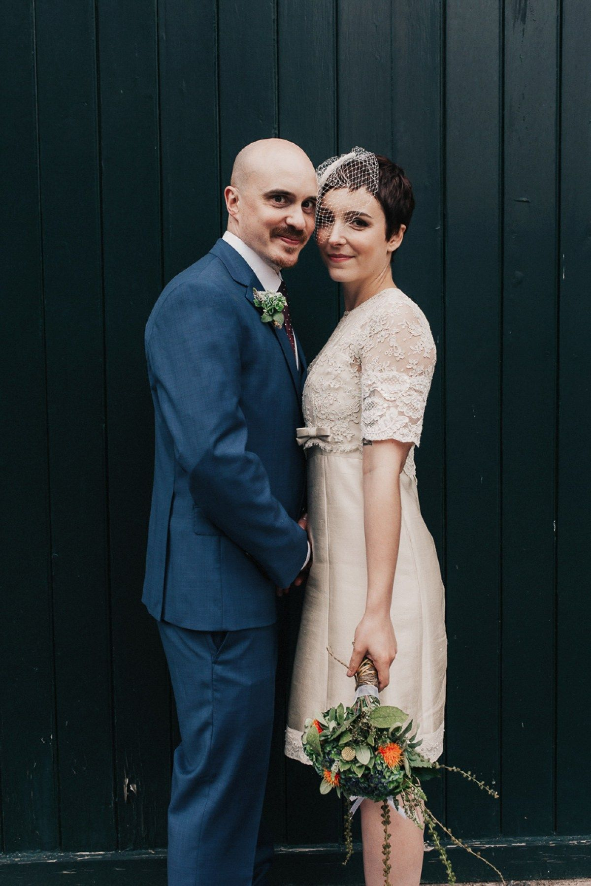 A short chic vintage dress for a us inspired bride short