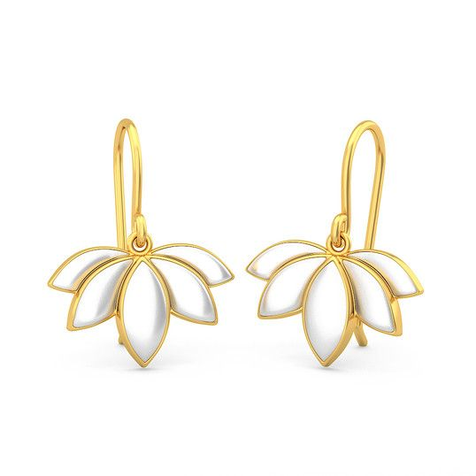 The Lotus Maiden Earrings | Earring In 18Kt Yellow Gold