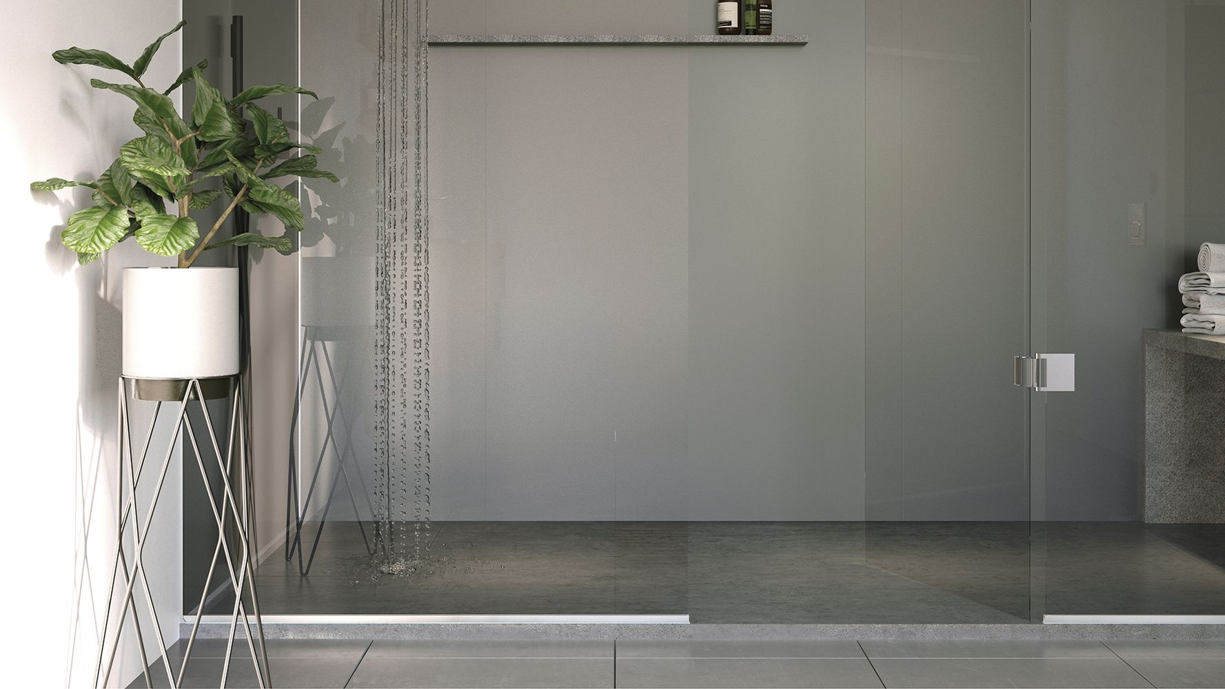 gunmetal from the acrylic range with images  bathroom