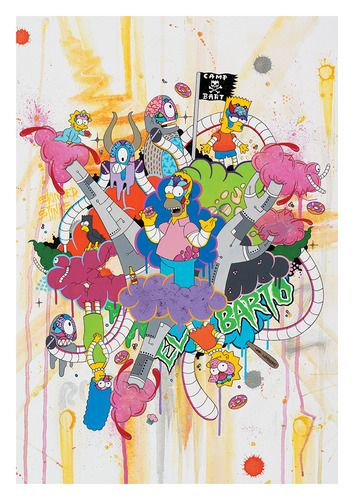 'Simpsons Sprawl' by Sekure D. On sale in his shop now: http://sekured.bigcartel.com