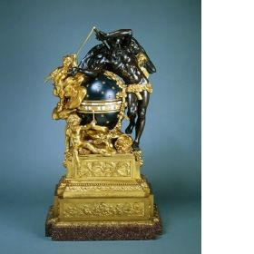 Mantel clock Attributed to Etienne Martincourt (active between: 1763 - 1791)	, Fondeur Augustin Pajou (1730 - 1809), Designer France c. 1780