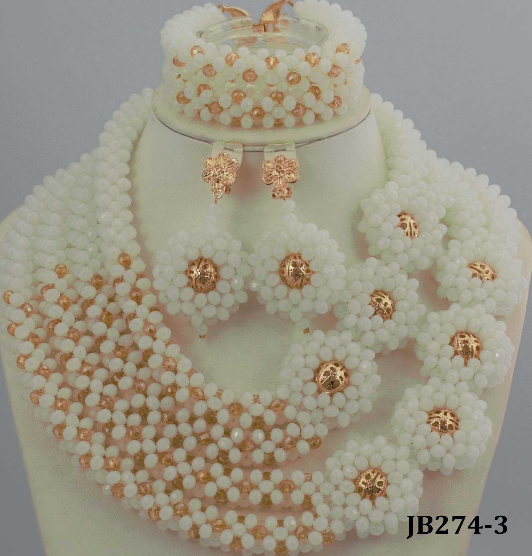 Amazing-White-African-Beads-Jewelry-Set-Nigerian-Beads-Necklace ...
