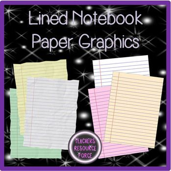 Lined Notebook Paper - plain and scrunched paper effect!