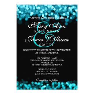 Find Turquoise Wedding Invitations Announcements Of All Sizes