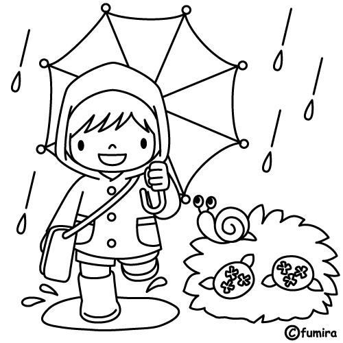 Bajo la lluvia | Dibujos para colorear | Pinterest | Dibujos ...