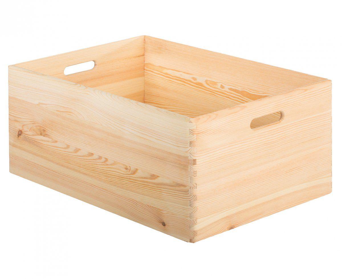 Caja De Madera Sin Tapa Pino Dim 23 X 60 X 40 Cm 55 L Madera