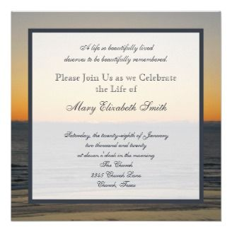 Awesome Invitation Wording Celebration Of Life Invitation #memorial