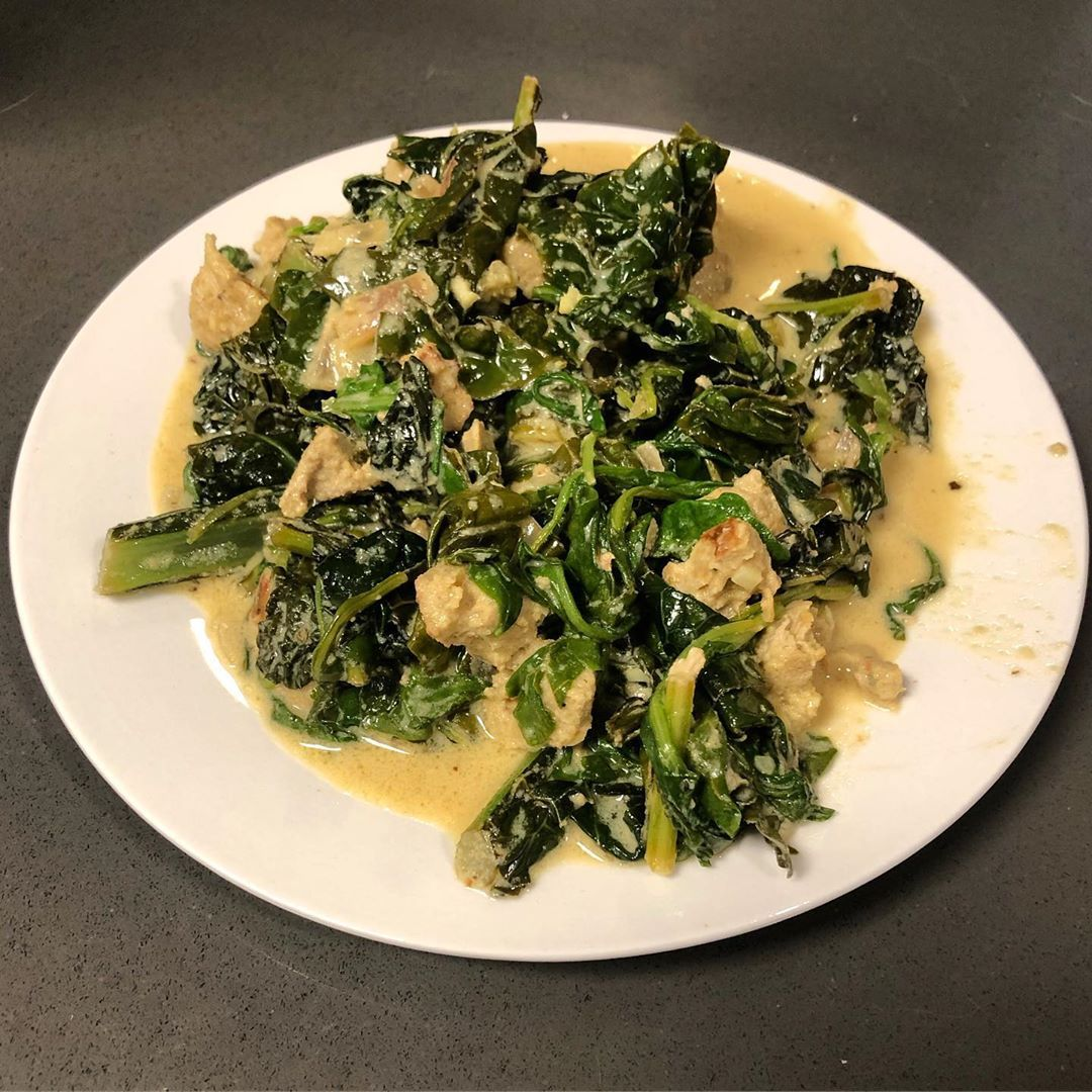 """Bomb bomb bomb bomb bomb  I tried the """"Alfredo"""" again, this time with kale and arugula, and homemade..."""