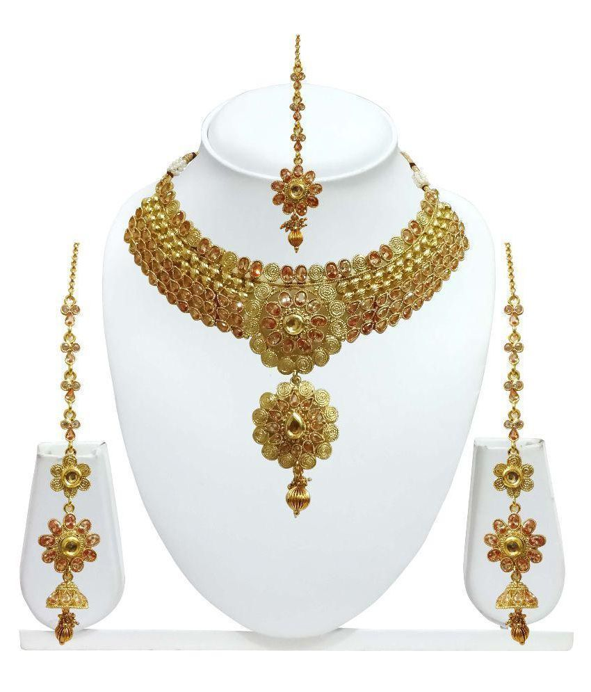 Indian Bollywood Ethnic Elegant Party Wedding Bridal Gold Plated Jewelry Set #UniqueGemstoneJewellery