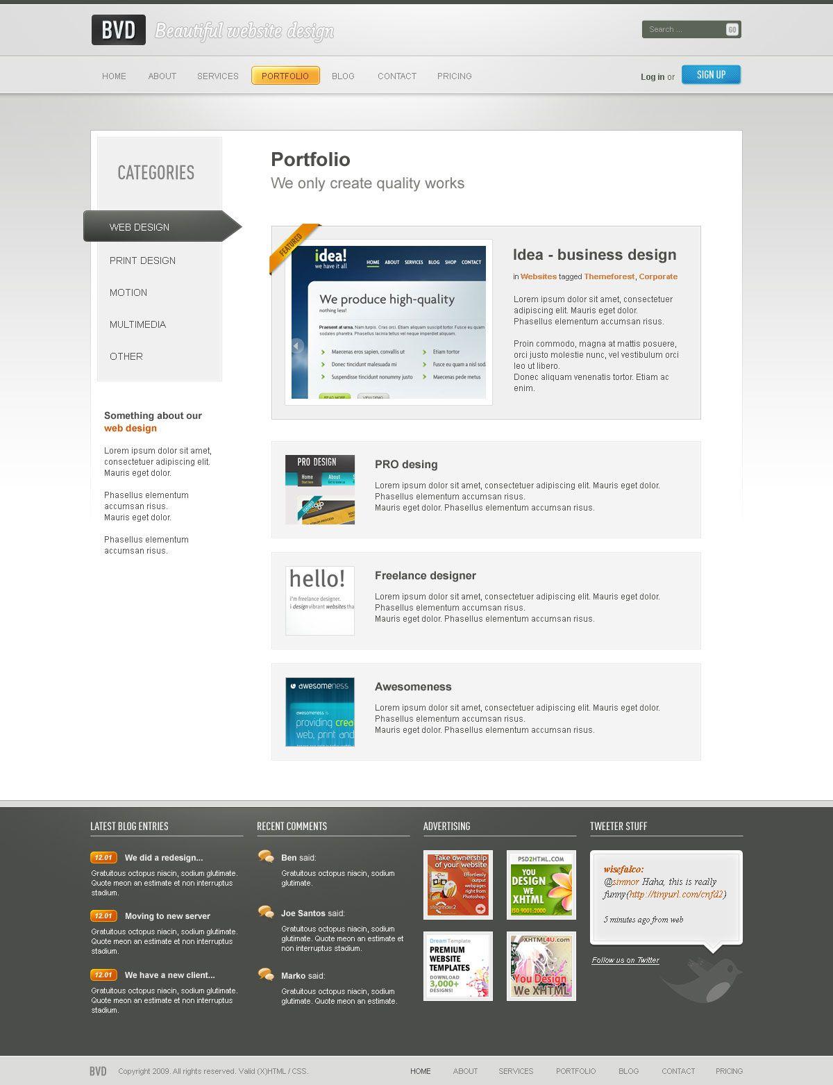 Bvd Beautiful Website Design Html Beautiful Website Design Website Design Web Design