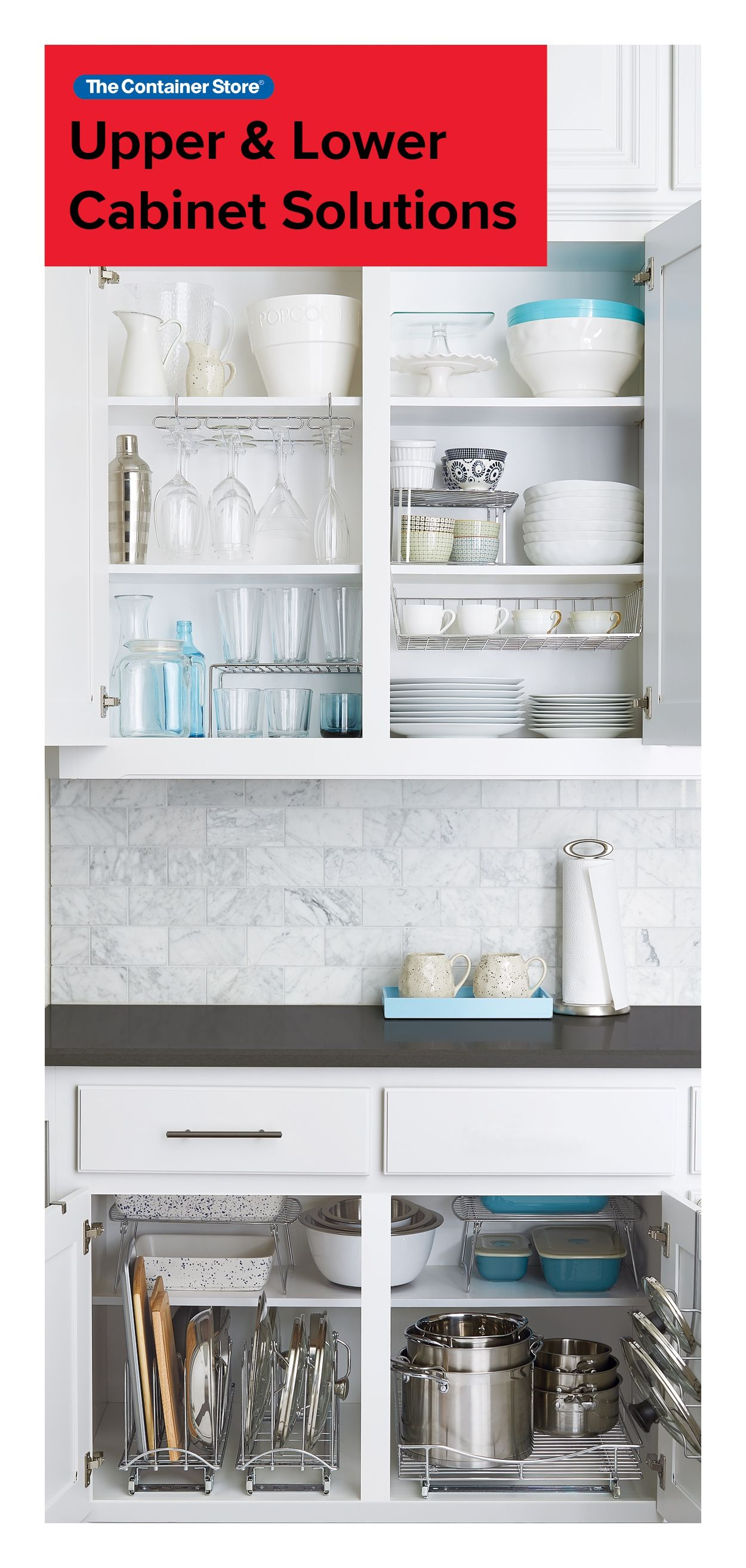 Kitchen Cabinet Organization Made Easy From Pots And Pans To Plates And Cups We Got Y Kitchen Cabinet Storage Cabinets Organization Luxury Kitchen Cabinets