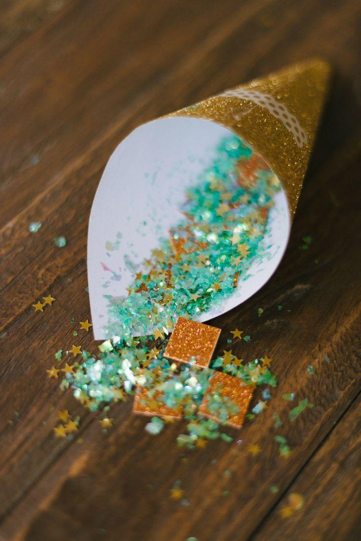 Mint and gold confetti #wedding #gold #goldwedding #mint #glamwedding
