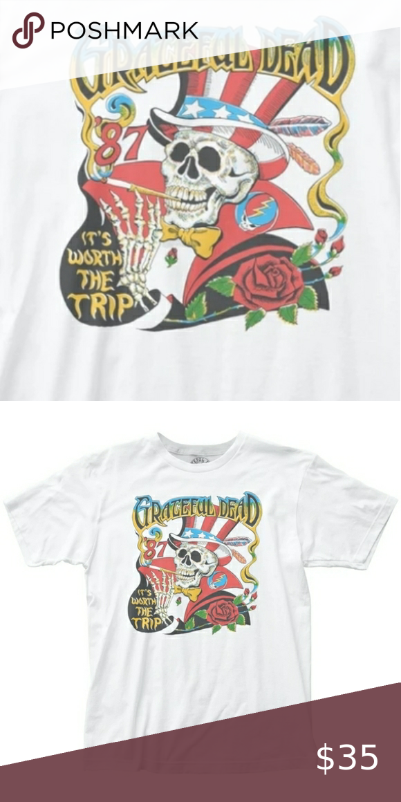 Grateful Dead Worth The Trip Fitted Jersey Shirt