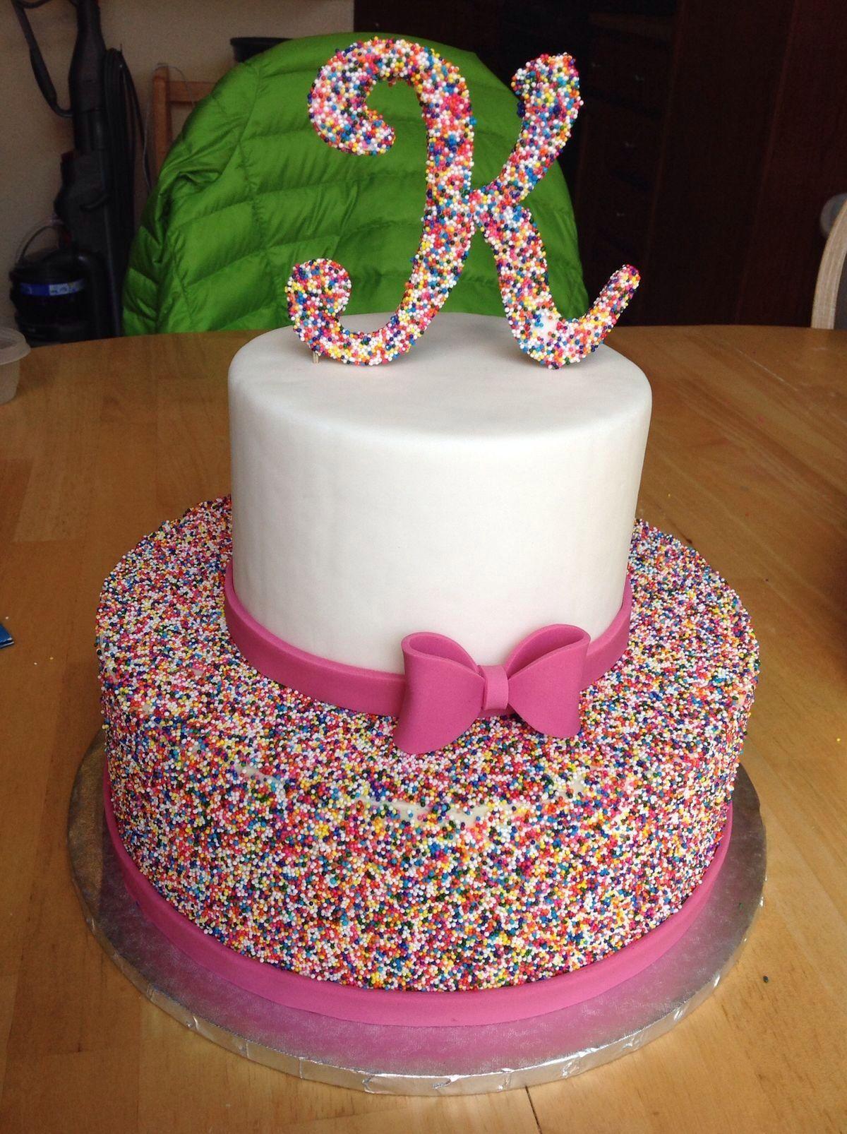K Cake Beautiful Birthday Cakes Pretty Birthday Cakes Girl Cakes