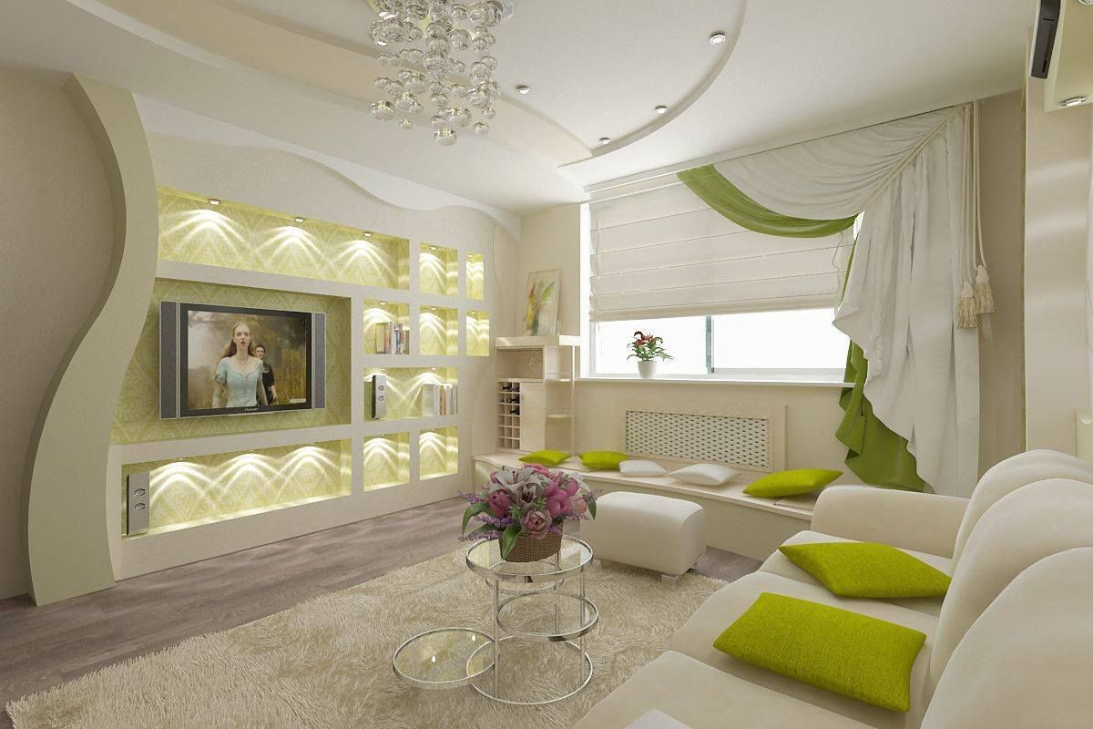Take A Look In 15 Enchanting Modern Gypsum Board Tv Wall Unit T  # Decor Television Moderne