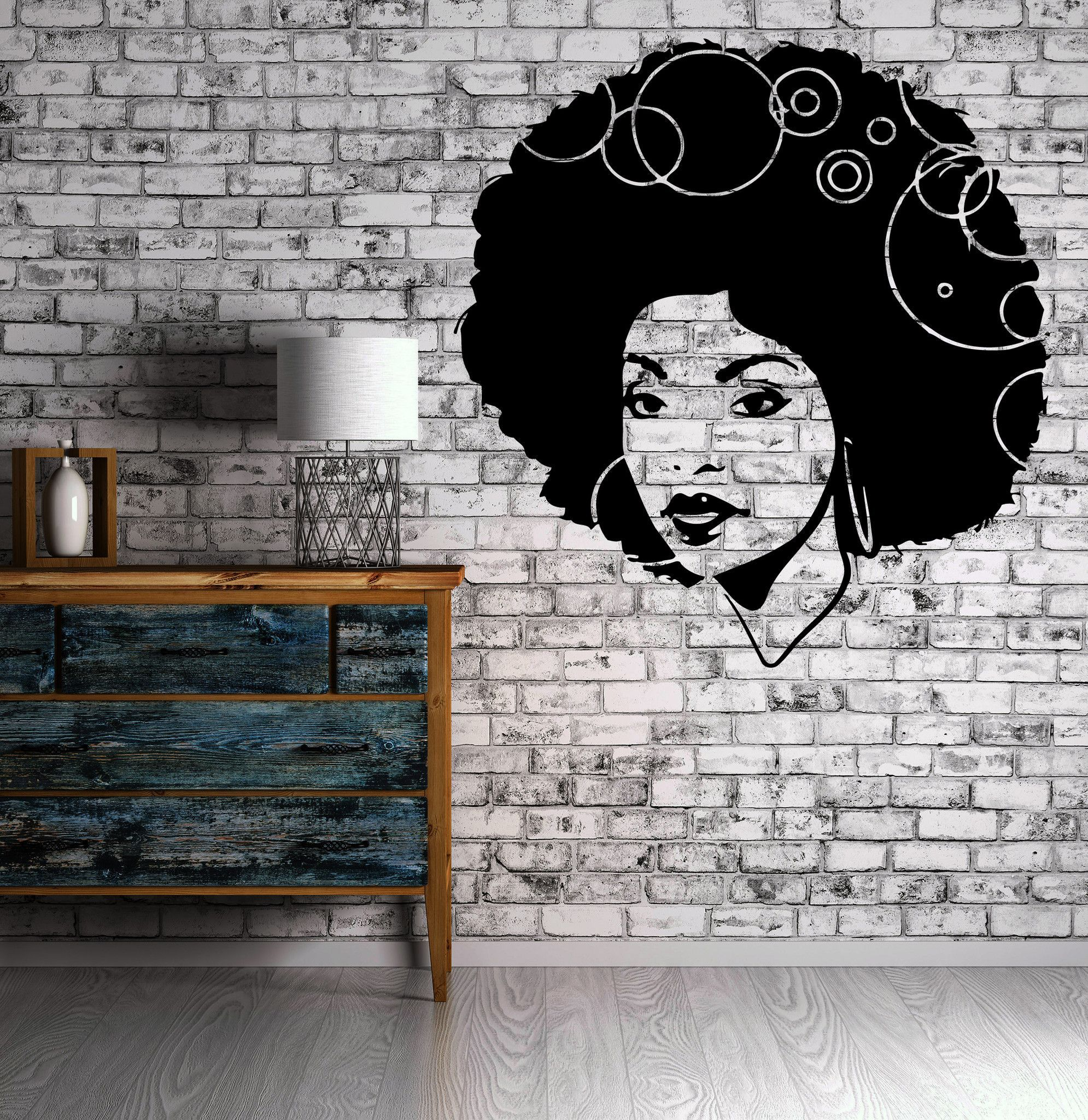 African American Woman Wall Mural