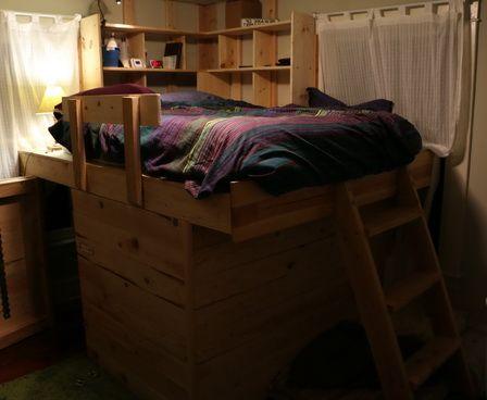 Diy Elevated Kids Bed Frame With Storage Area Kids Bed Frames