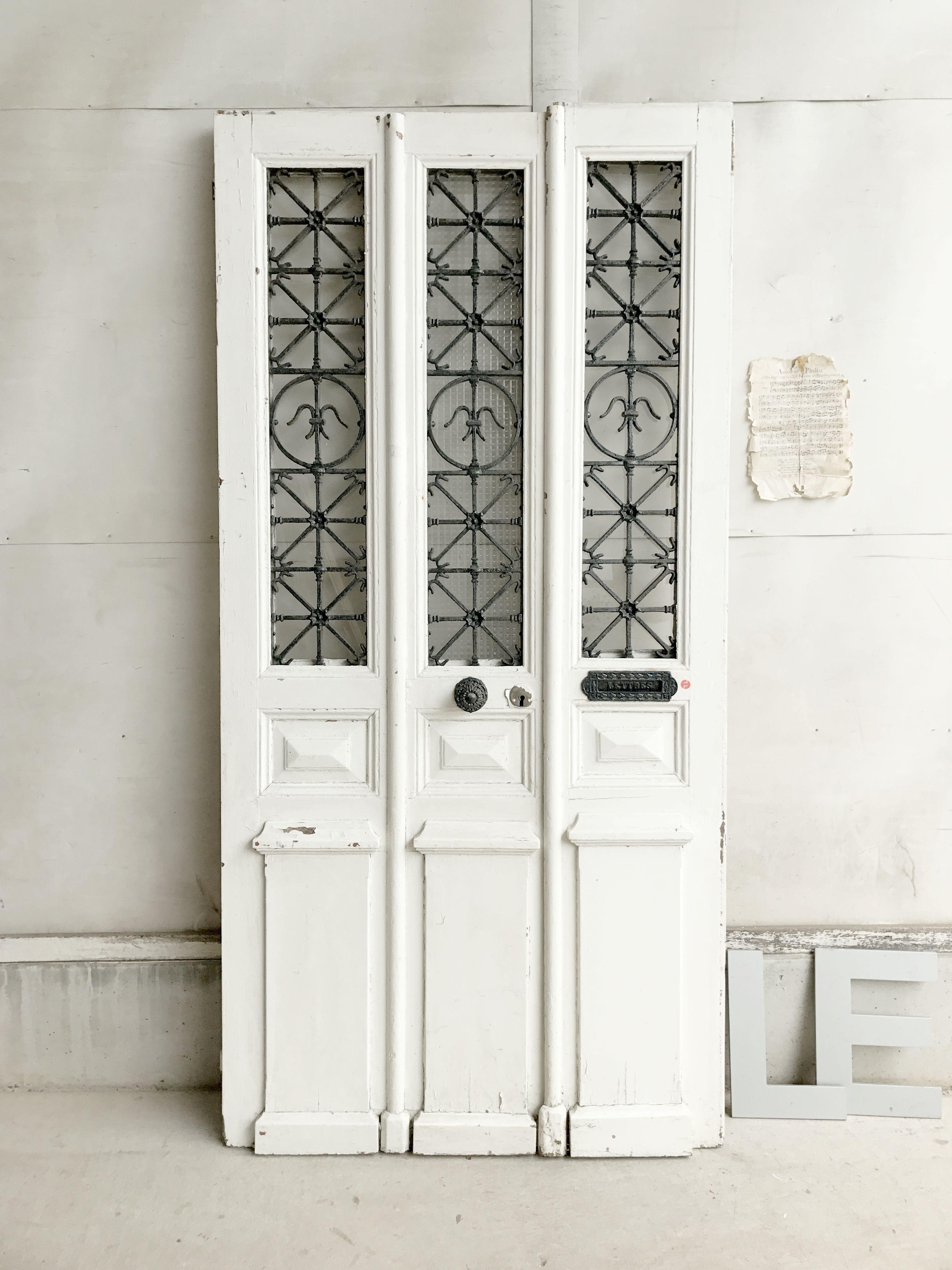 アイアングリルガラスペアドア パディントン アンティーク家具 ドア パディントン アンティーク家具