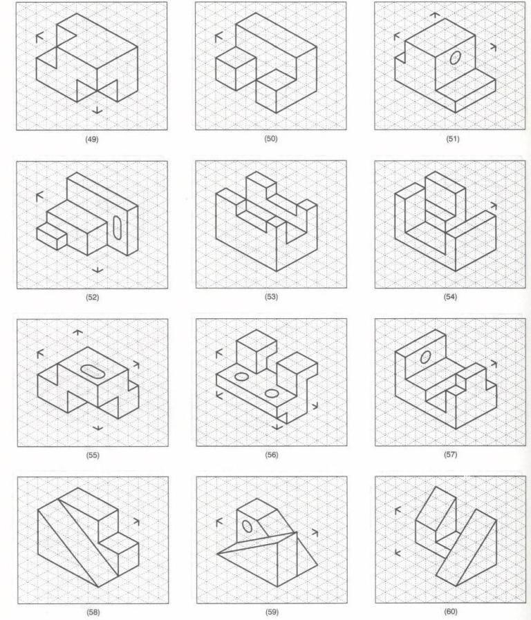 Https Gtrevino Files Wordpress Com 2011 08 Figuras2 Jpg Ejercicios De Dibujo Tecnicas De Dibujo Vistas Dibujo Tecnico